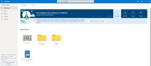 Interface de OneDrive